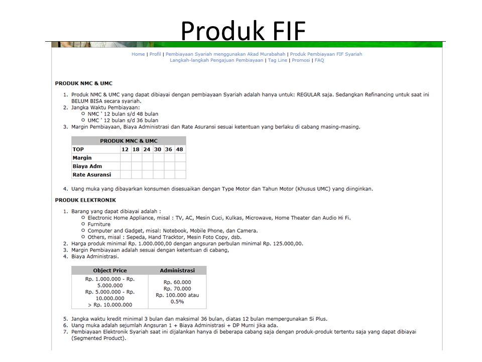 Produk FIF