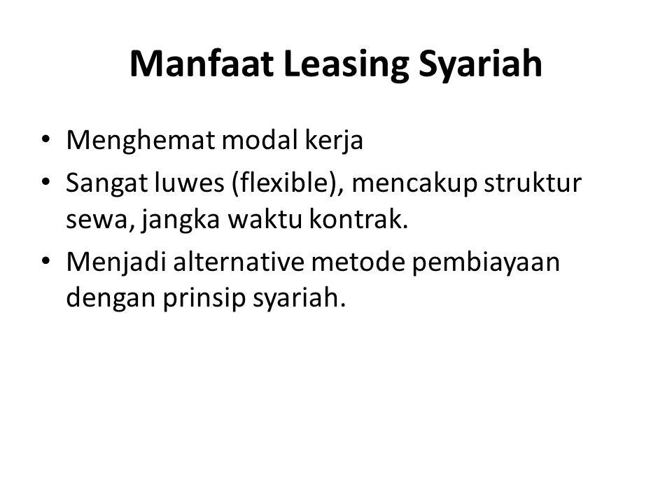 Manfaat Leasing Syariah