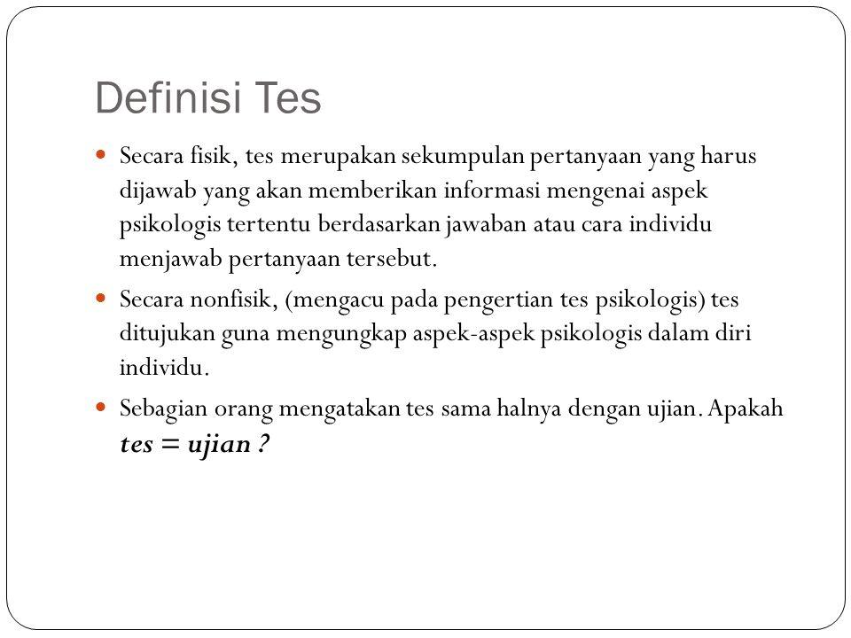 Definisi Tes