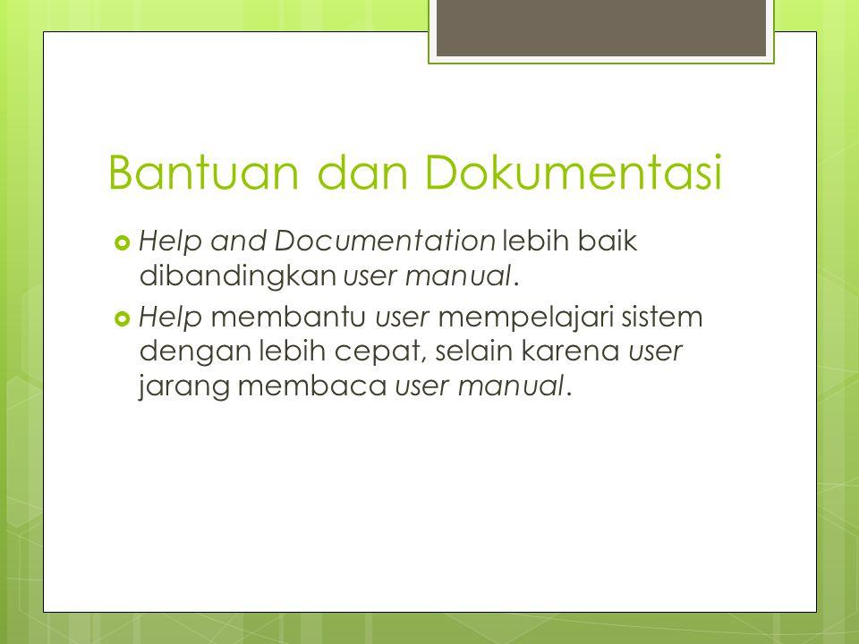 Bantuan dan Dokumentasi