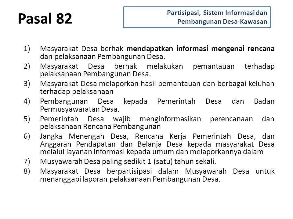 Partisipasi, Sistem Informasi dan Pembangunan Desa-Kawasan