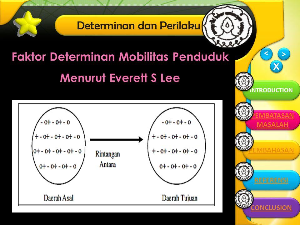 Faktor Determinan Mobilitas Penduduk Menurut Everett S Lee