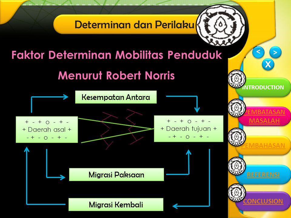Faktor Determinan Mobilitas Penduduk Menurut Robert Norris
