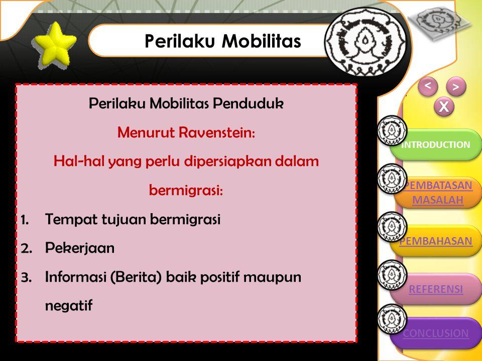 Perilaku Mobilitas PEMBAHASAN