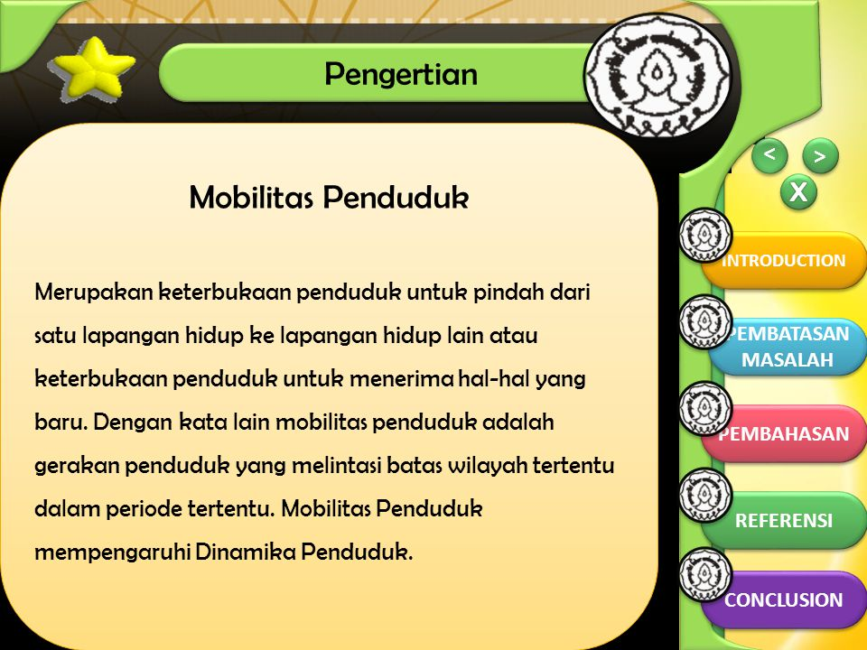 PEMBAHASAN Pengertian Mobilitas Penduduk