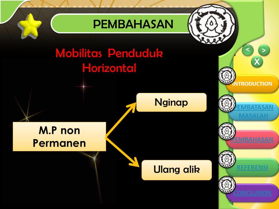 Mobilitas Penduduk Horizontal