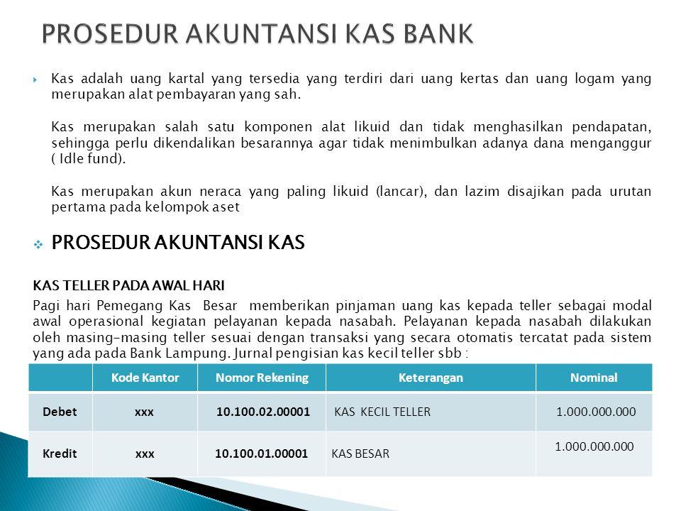 PROSEDUR AKUNTANSI KAS BANK