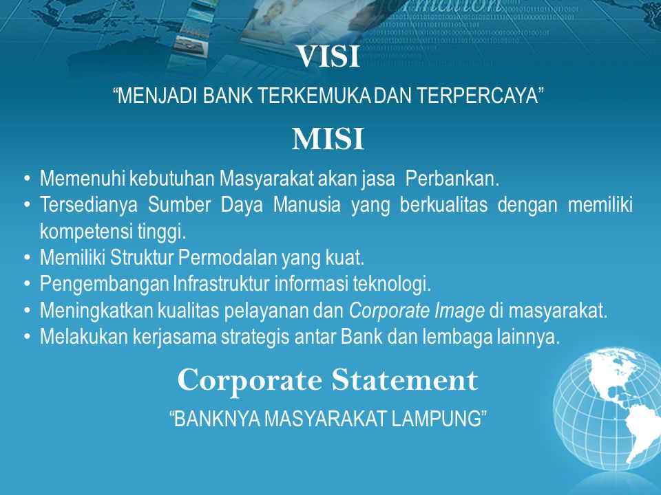 VISI MISI Corporate Statement