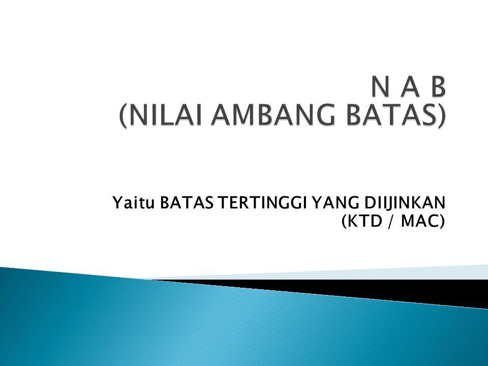 N A B (NILAI AMBANG BATAS)