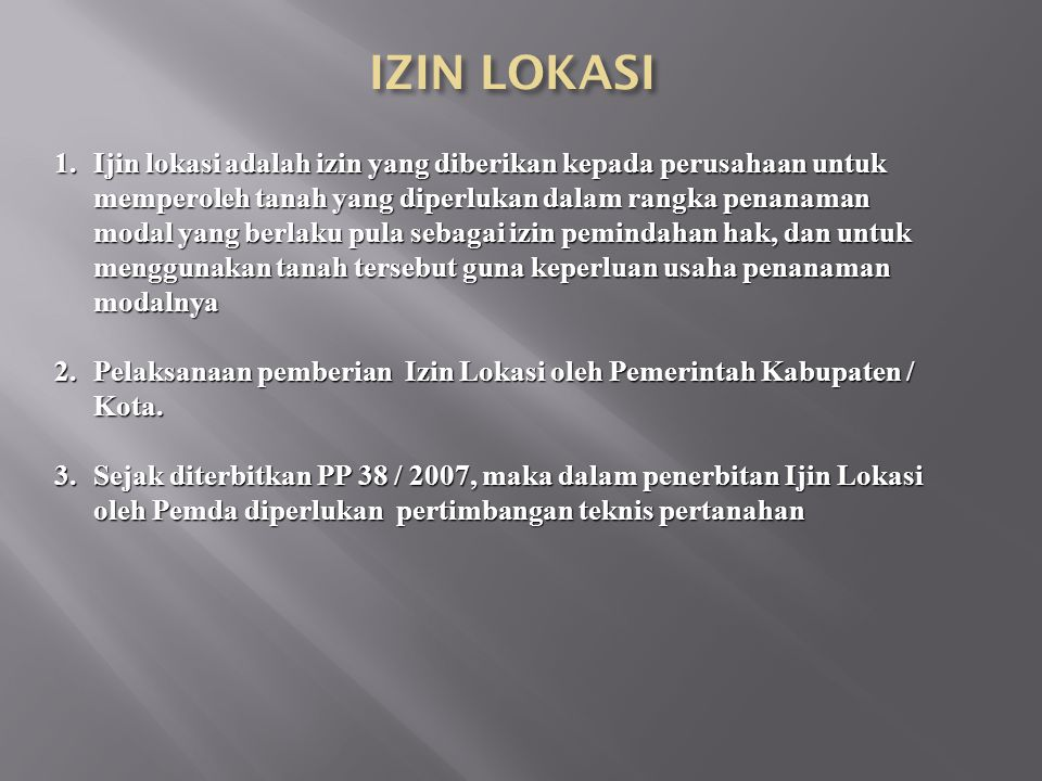 IZIN LOKASI