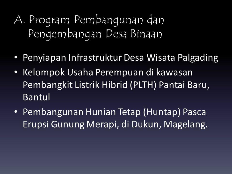 A. Program Pembangunan dan Pengembangan Desa Binaan