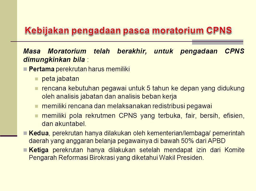 Kebijakan pengadaan pasca moratorium CPNS