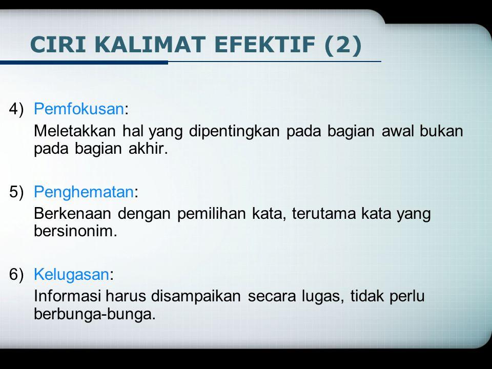 CIRI KALIMAT EFEKTIF (2)