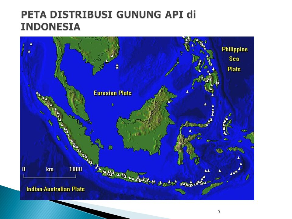 PETA DISTRIBUSI GUNUNG API di INDONESIA