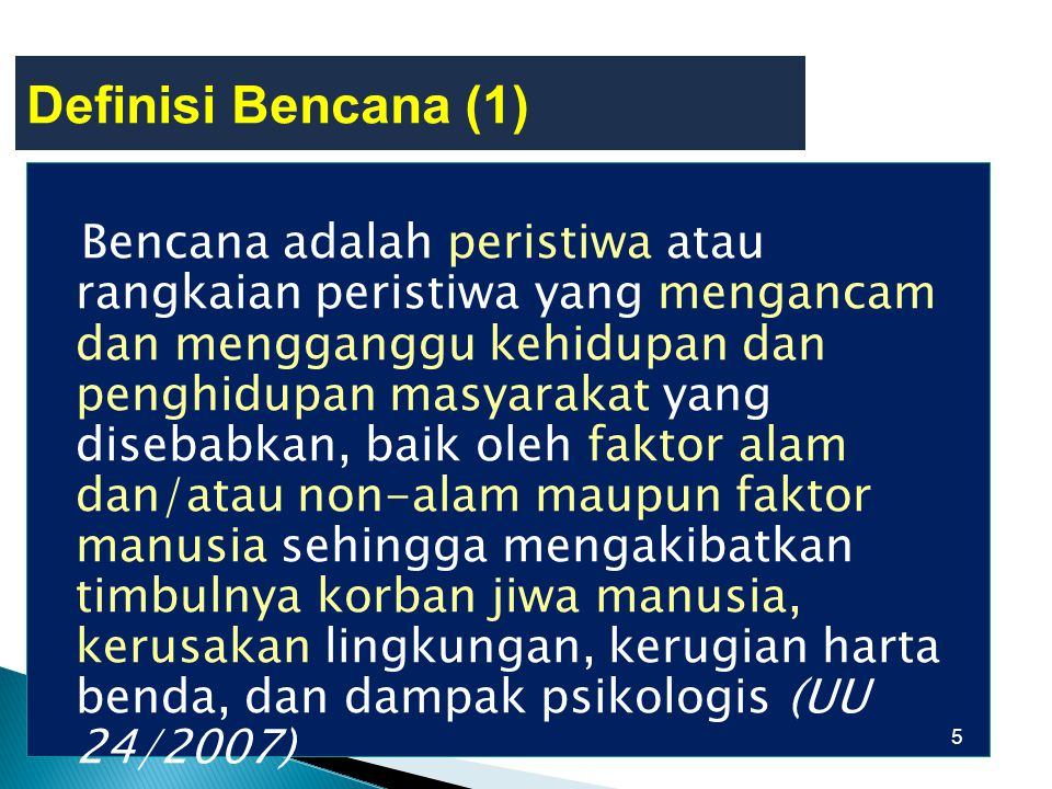 Definisi Bencana (1)