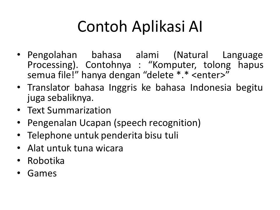Contoh Aplikasi AI