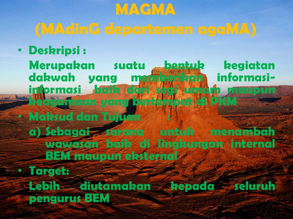 MAGMA (MAdinG departemen agaMA)