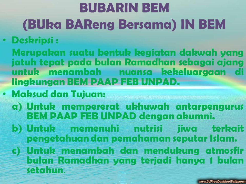 BUBARIN BEM (BUka BAReng Bersama) IN BEM