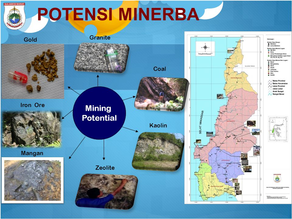POTENSI MINERBA Mining Potential Granite Gold Coal Iron Ore Kaolin