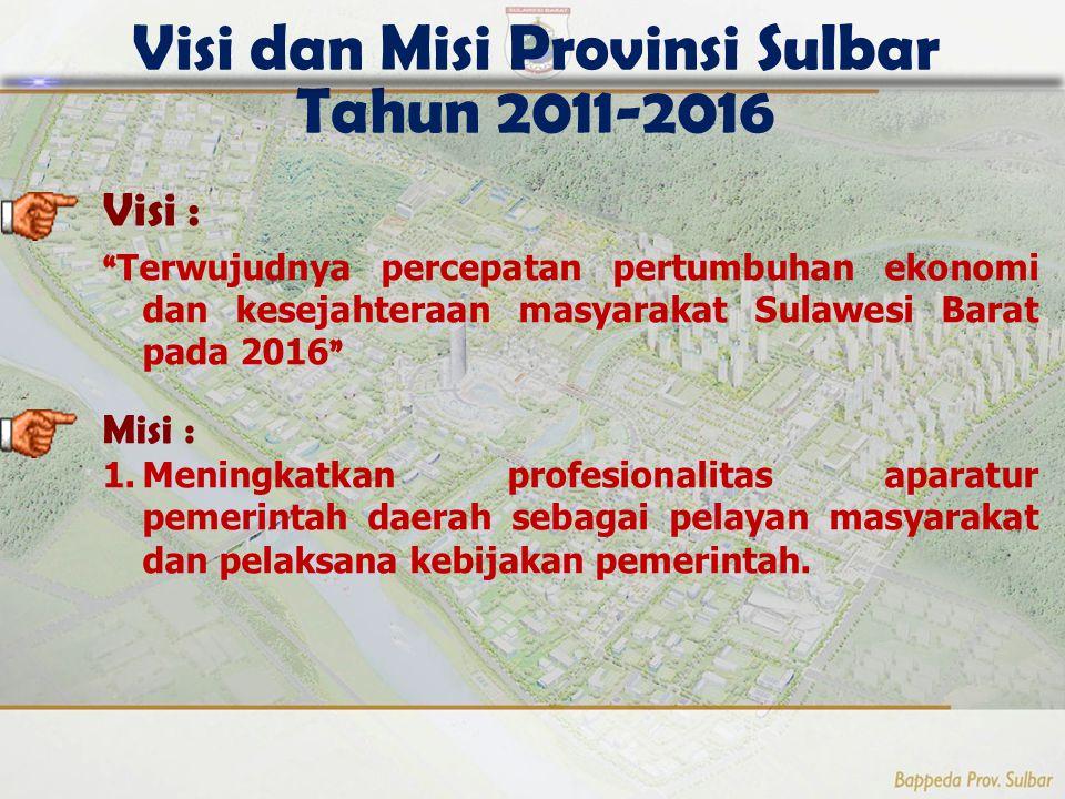 Visi dan Misi Provinsi Sulbar