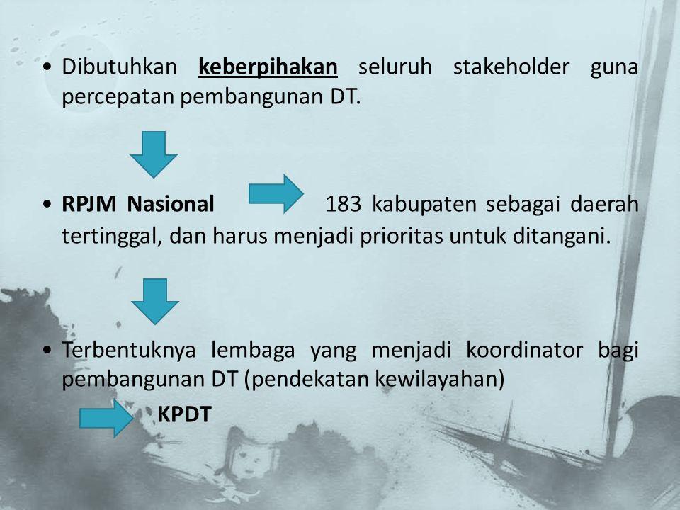Dibutuhkan keberpihakan seluruh stakeholder guna percepatan pembangunan DT.