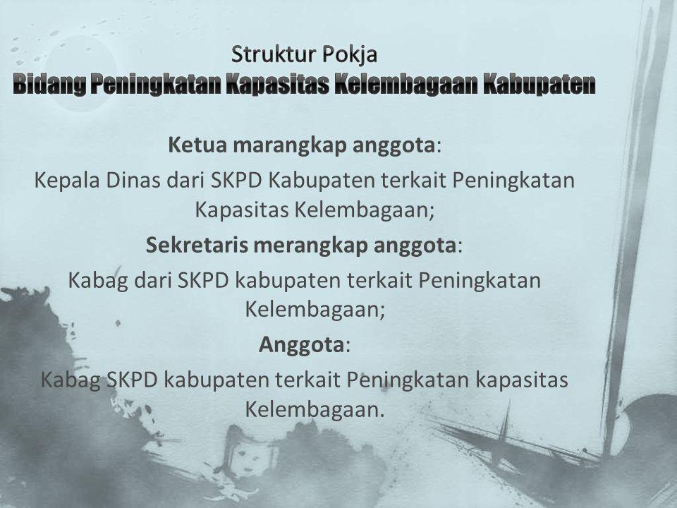 Struktur Pokja Bidang Peningkatan Kapasitas Kelembagaan Kabupaten