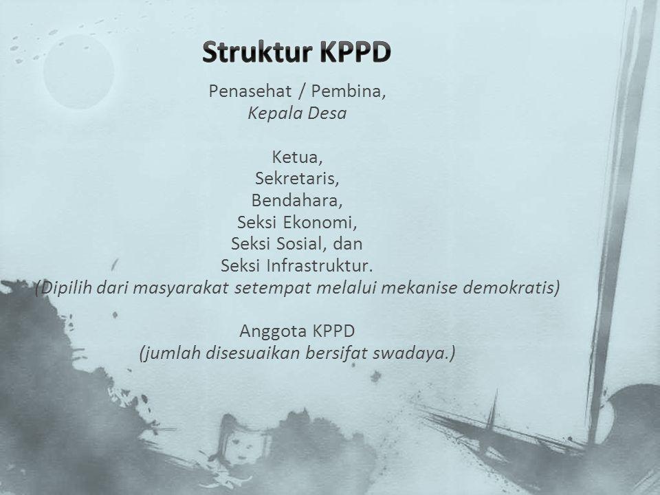 Struktur KPPD Penasehat / Pembina, Kepala Desa Ketua, Sekretaris,