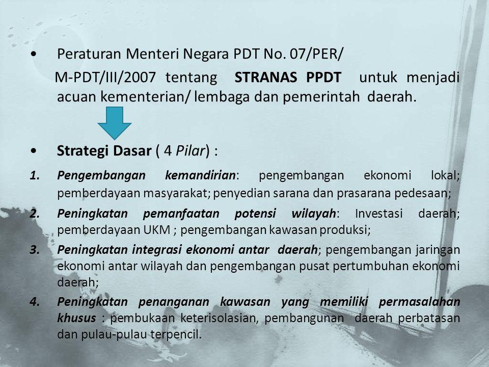 Peraturan Menteri Negara PDT No. 07/PER/