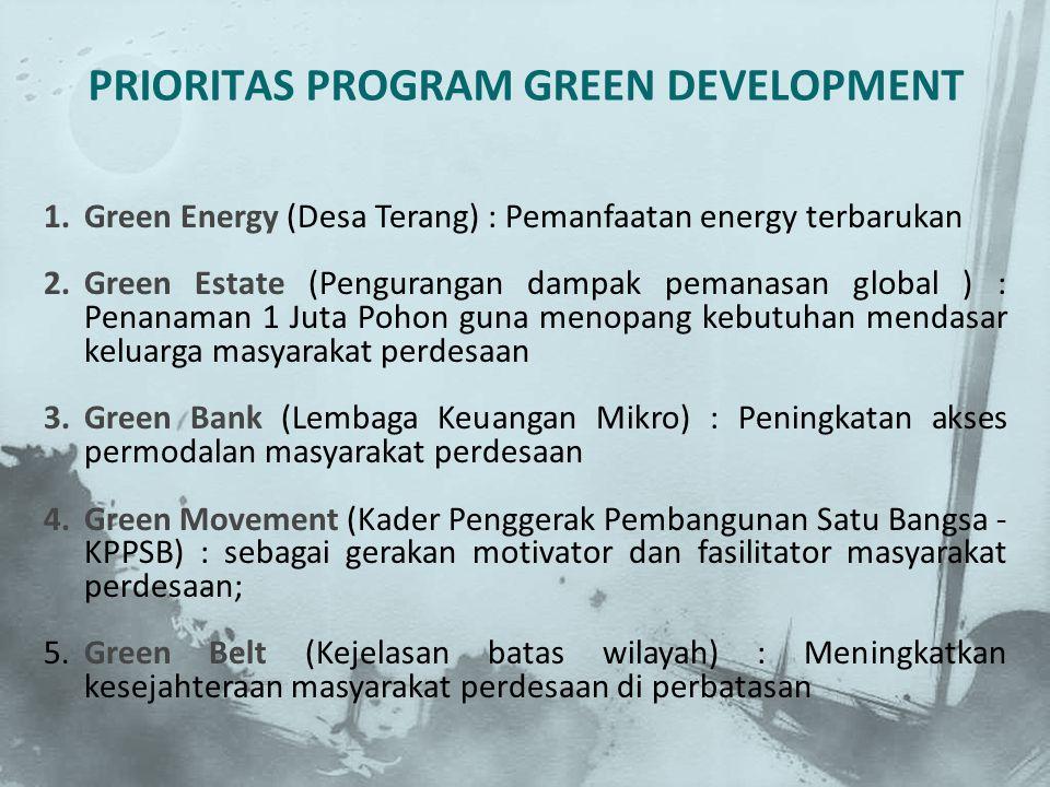 PRIORITAS PROGRAM GREEN DEVELOPMENT