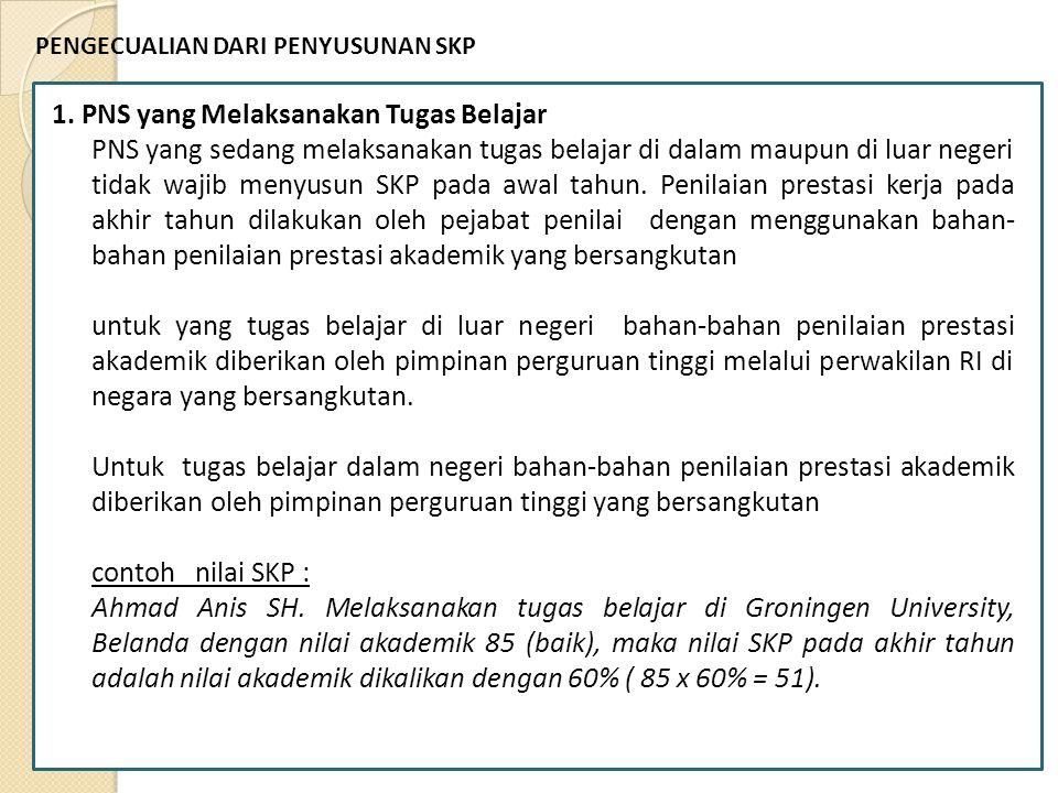 1. PNS yang Melaksanakan Tugas Belajar