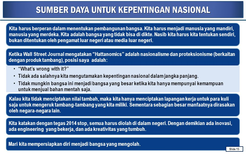 MASTERPLAN PERCEPATAN DAN PERLUASAN PEMBANGUNAN EKONOMI INDONESIA (MP3EI) 2011-2025