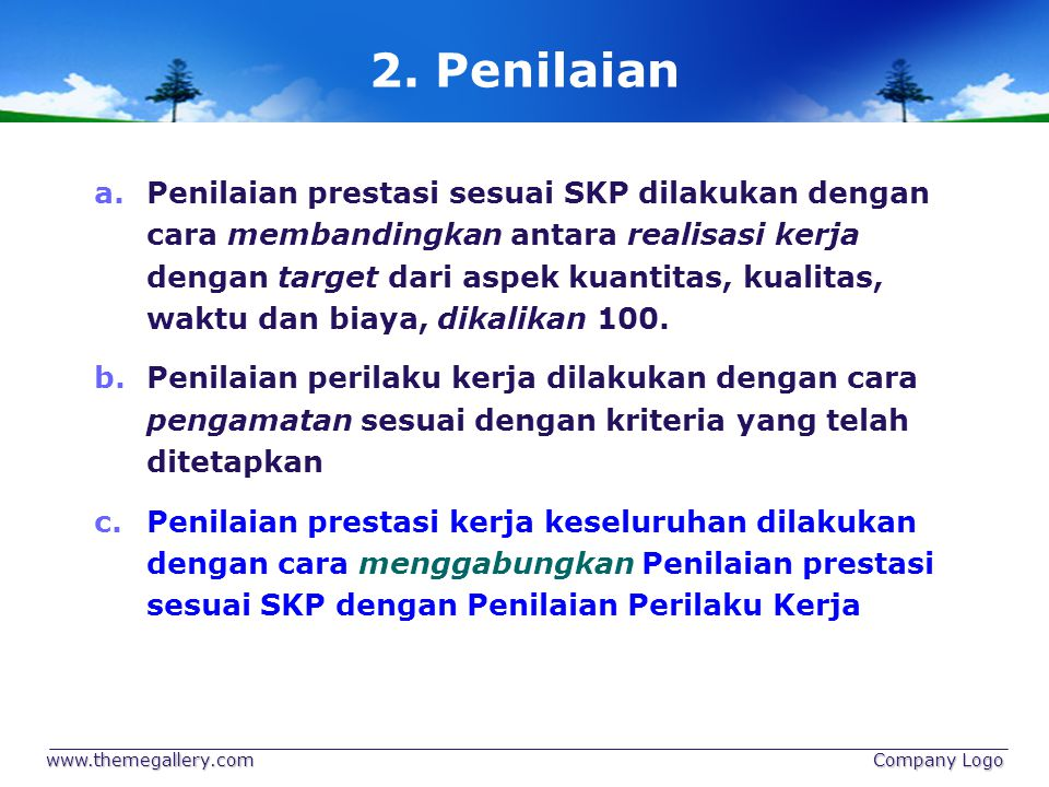 2. Penilaian