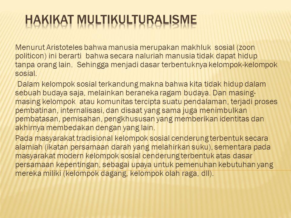 Hakikat Multikulturalisme