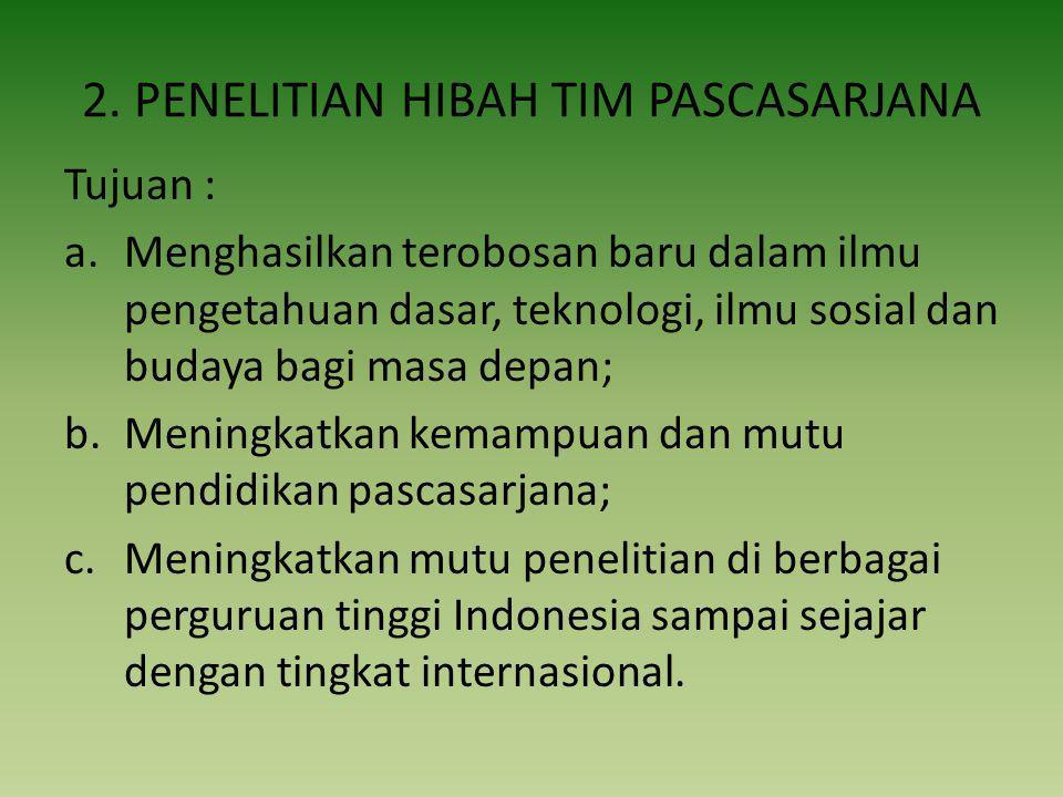 2. PENELITIAN HIBAH TIM PASCASARJANA