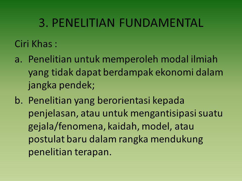 3. PENELITIAN FUNDAMENTAL