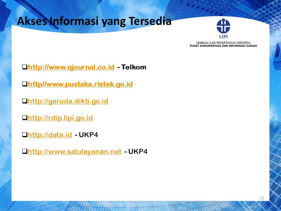 Akses Informasi yang Tersedia