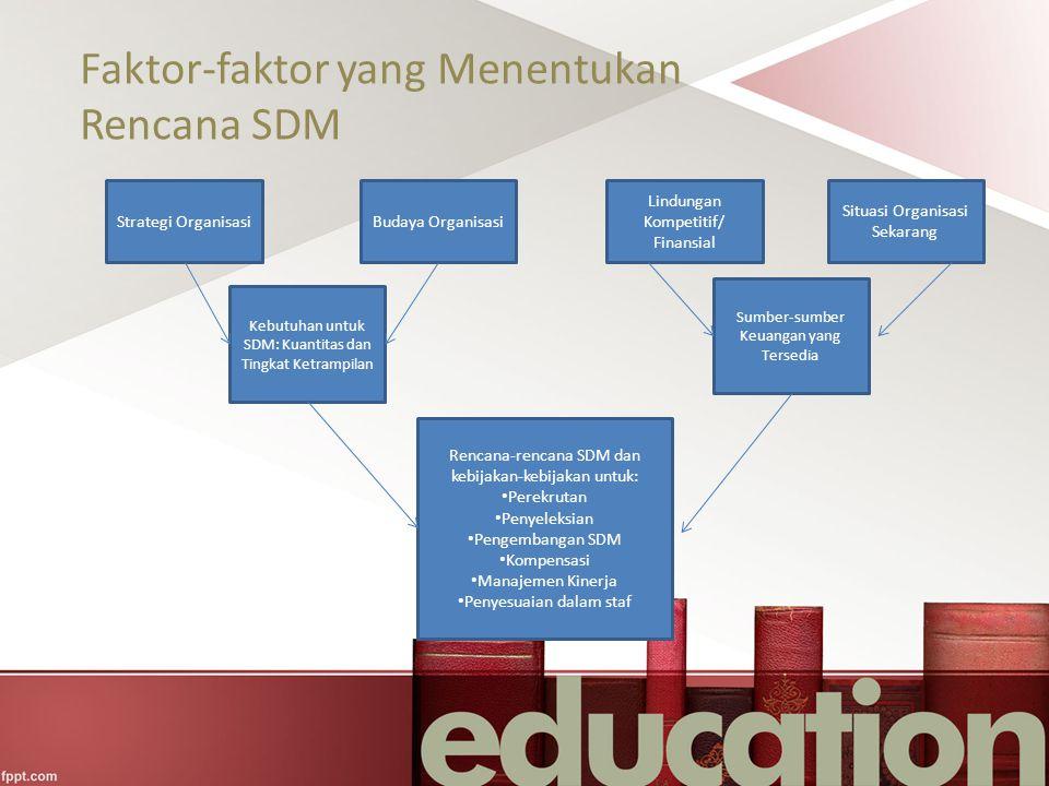 Faktor-faktor yang Menentukan Rencana SDM