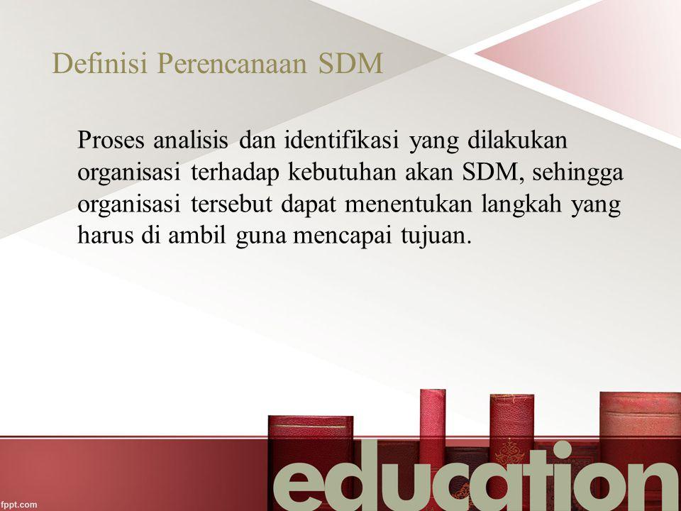 Definisi Perencanaan SDM