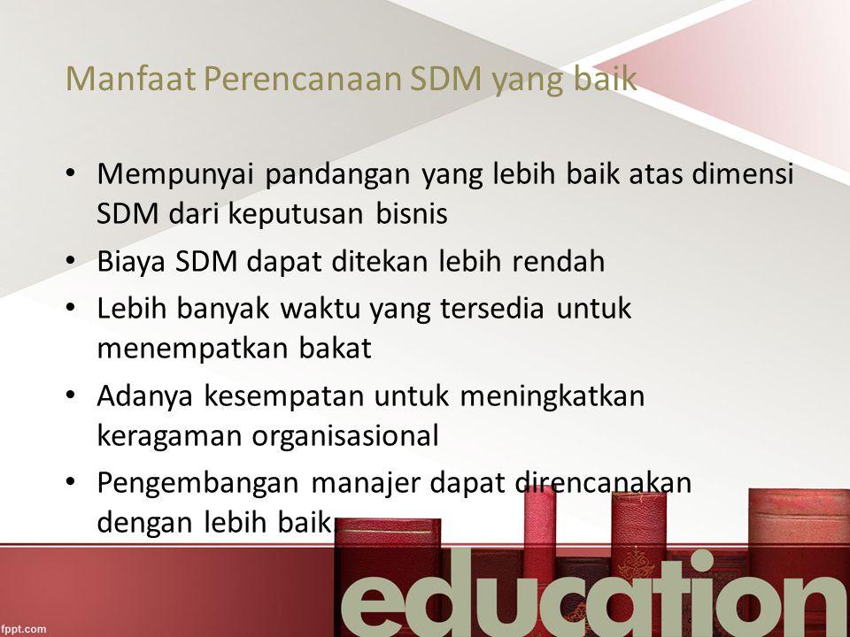 Manfaat Perencanaan SDM yang baik
