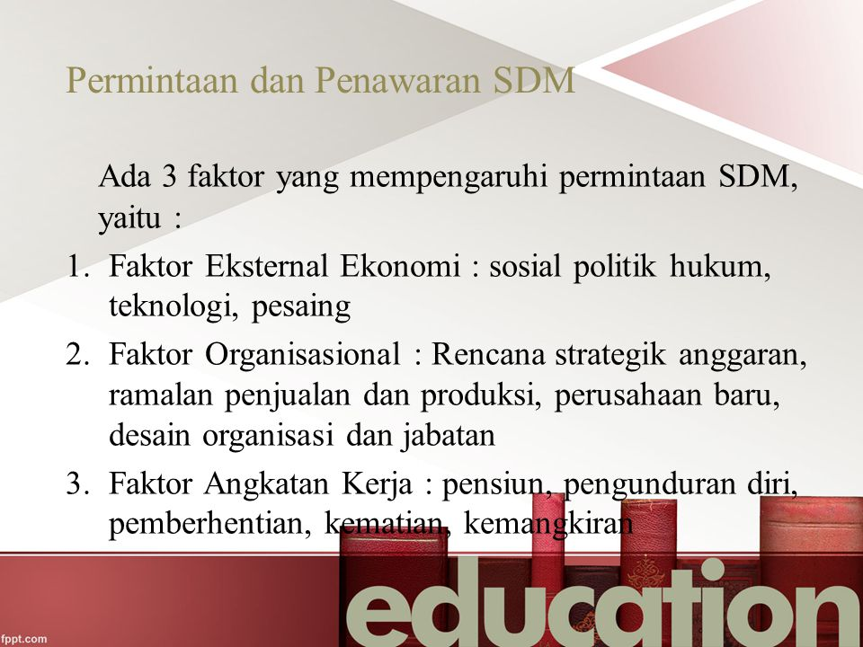 Permintaan dan Penawaran SDM