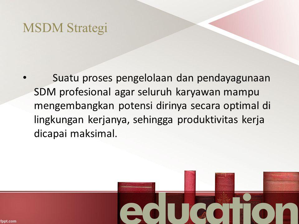 MSDM Strategi