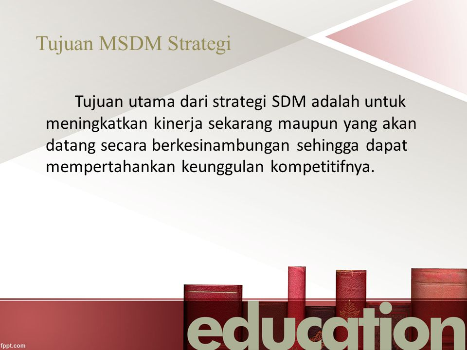 Tujuan MSDM Strategi