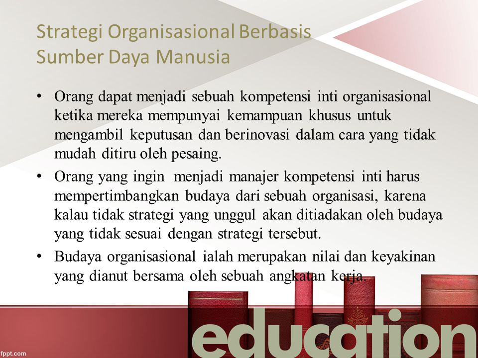Strategi Organisasional Berbasis Sumber Daya Manusia