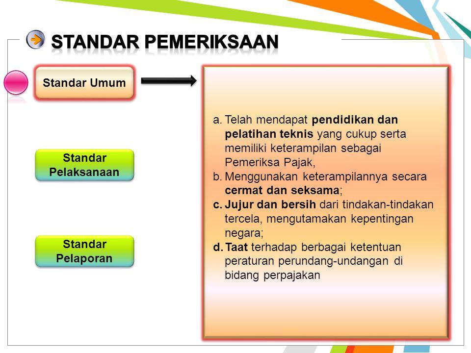 STANDAR PEMERIKSAAN Standar Umum