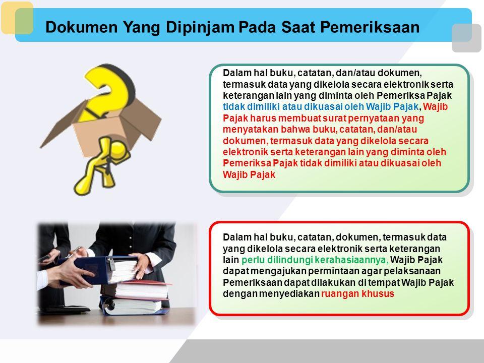Dokumen Yang Dipinjam Pada Saat Pemeriksaan