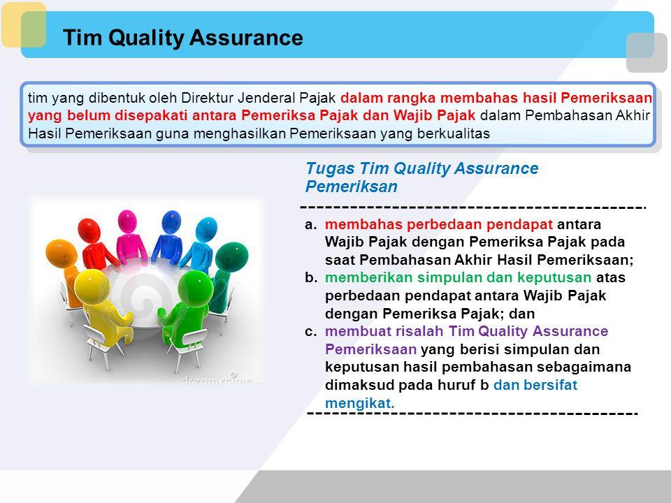 Tim Quality Assurance Tugas Tim Quality Assurance Pemeriksan