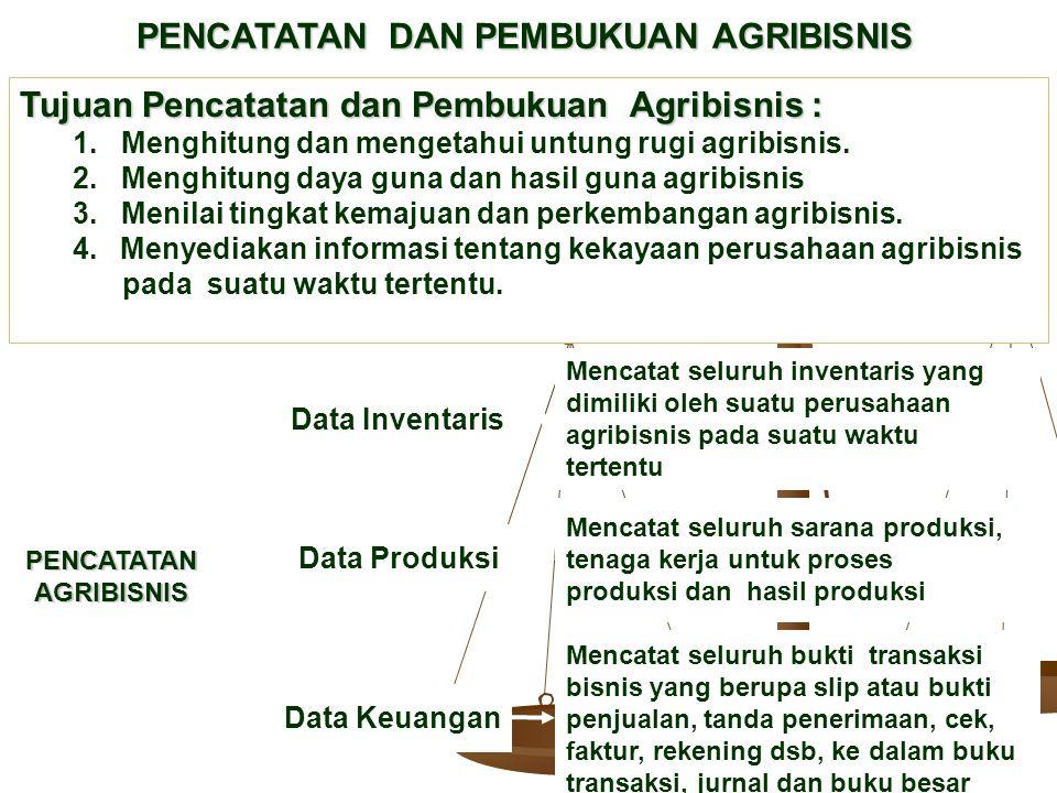PENCATATAN DAN PEMBUKUAN AGRIBISNIS