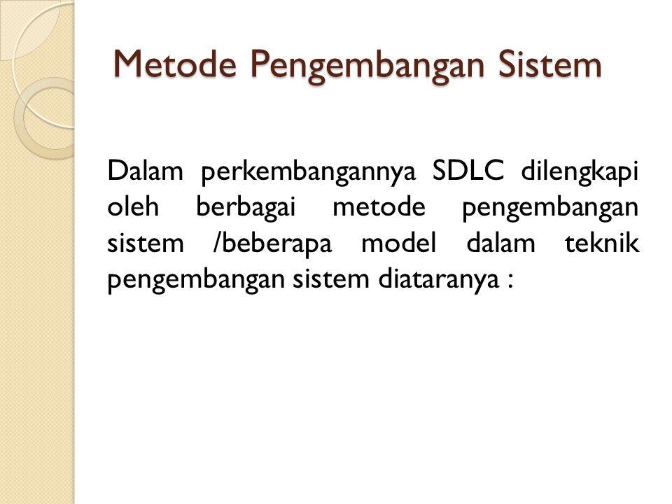 Metode Pengembangan Sistem