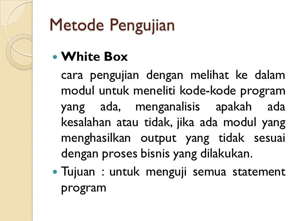 Metode Pengujian White Box