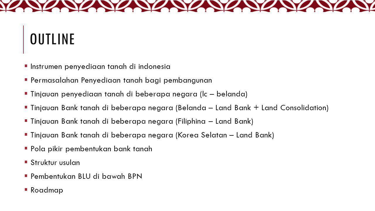 Outline Instrumen penyediaan tanah di indonesia